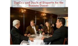 Copy of Etiquette Dinner
