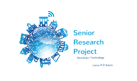 Senior Research Project: A better idea