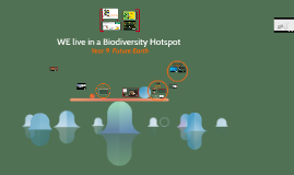 WE live in a Biodiversity Hotspot