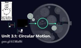 Unit 3.1: Circular Motion.