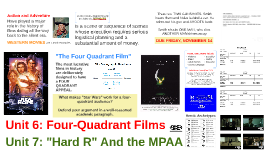 Film Studies: Unit 6 - Four Quadrant Films