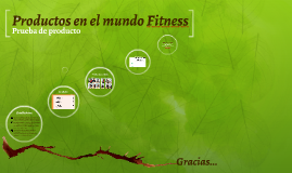 Productos en el mundo fit