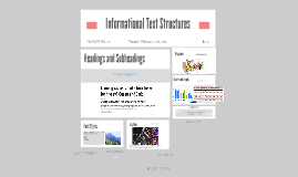 Informational Text Structures