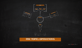 HSC TOPIC: OPERATIONS