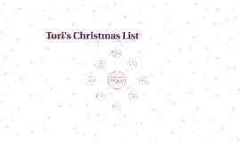 Tori's Christmas List