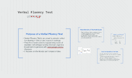 Verbal Fluency Test
