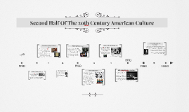 Second Half Of The 20th Century American Culture Timeline