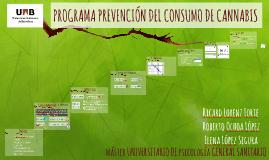 PROGRAMA PREVENCIÓN DEL CONSUMO DE CANNABIS