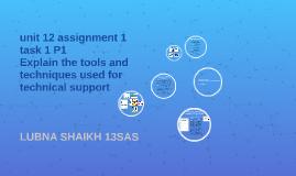 unit 12 assignment 1 task 1 P1