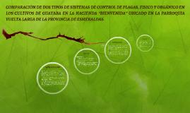 COMPARACIÓN DE DOS TIPOS DE SISTEMAS DE CONTROL DE PLAGAS, F