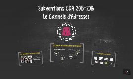 Subvention CDA 2015-2016