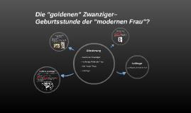 """Die """"goldenen"""" Zwanziger– Geburtsstunde der """"modernen Frau""""?"""