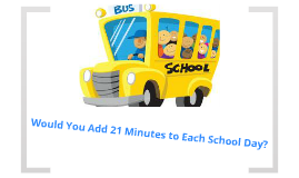 Would you Add 21 Minutes to Each School Day?