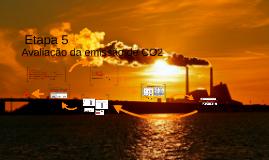Avaliação da emissão de CO2