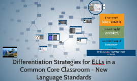 Differentiation Strategies for ELLs in a Common Core Classroom - New Language Standards
