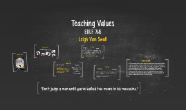 Teaching Values Lesson