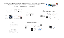 Novel sources of antimicrobial diversity for new antibiotics - PhD application