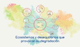 Copy of Tema 9: Ecosistemas y desequilibrios que provocan su degradación
