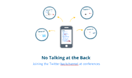 No Talking at the Back: Conference backchannels
