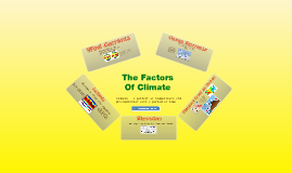 Factors of Climate