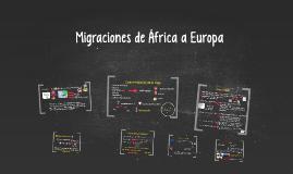 Migraciones de África a Europa