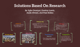 Solutions Based On Research