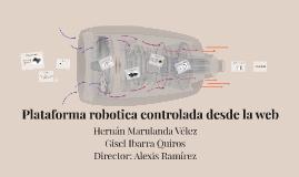 Plataforma robotica controlada desde la web