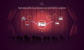 Role oborového koordinátora pro přijíždějící studenty