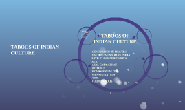 TABOOS OF INDIAN CULTURE