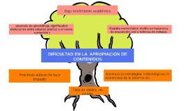DIFICULTAD EN LA  APROPIACIÓN DE CONTENIDOS