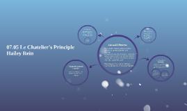 07.05 Le Chatelier's Principle