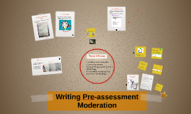 Writing Pre-test Moderation
