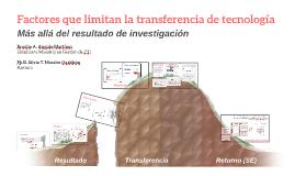 Copy of Factores que limitan la transferencia de tecnología