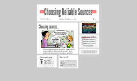 Choosing Reliable Sources