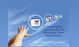 CARACTERÍSTICAS DE LAS PERSONAS ENTRE PROFESIONALES