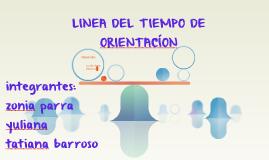 LINEA DEL TIEMPO DE ORIENTACÍON