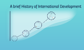 A brief History of International Development