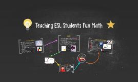 Teaching ESL Math
