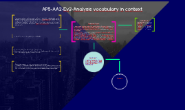 AP5-AA2-Ev2-Analysis vocabulary in context
