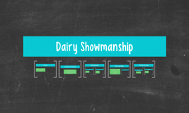 Dairy Showmanship