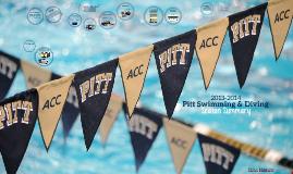 2013-2014 Pitt Swimming & Diving Season Summary