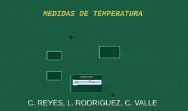 MEDIDAS DE TEMPERATURA