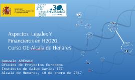 CURSO OE-AH Aspectos Legales y Financieros de H2020