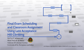 Final Exam Scheduling and Classroom Assignment