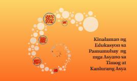 Copy of Edukasyon sa Timog at Kanlurang Asya