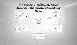 Neuewege Website Assessment & CSR Initiatves Coconut Bay/Nattika