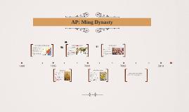 AP: Ming Dynasty