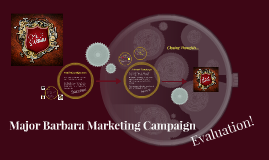 Major Barbara Marketing Campaign