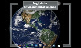 English for Environmental Science