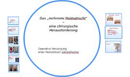 "Das ""verlorene Heimatrecht"" –"